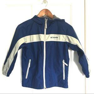 Columbia Blue & Gray Front ZIP Windbreaker Jacket